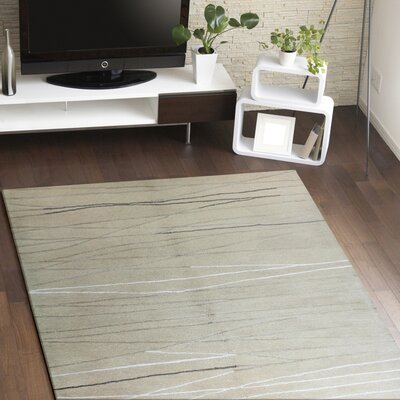 Suzette Handmade Wool Ivory Area Rug Rug Size: Rectangle 86 x 116