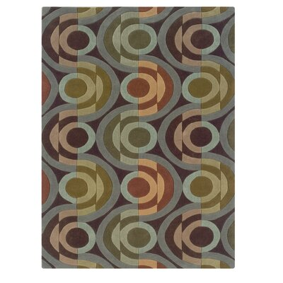 Camden Hand-Tufted Chocolate/Wasabi Area Rug Rug Size: Rectangle 8 x 10