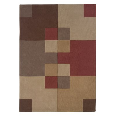Camden Hand-Tufted Brown/Tan Area Rug Rug Size: 8 x 10