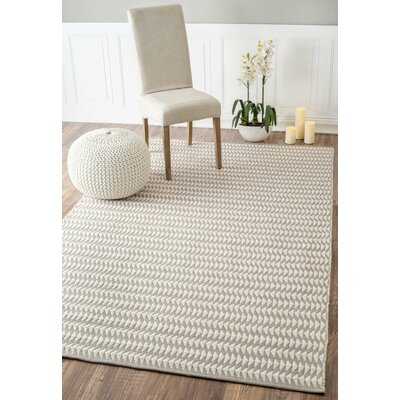 Ardagh Hand-Woven Ivory Indoor/Outdoor Area Rug Rug Size: Rectangle 4 x 6