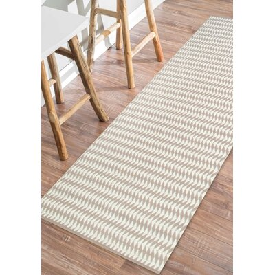 Ardagh Hand-Woven Ivory Indoor/Outdoor Area Rug Rug Size: Runner 26 x 8