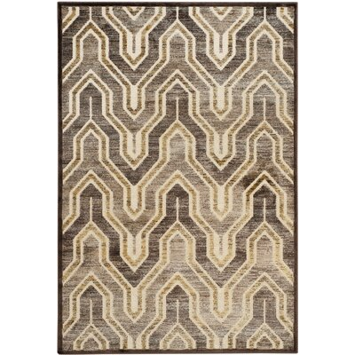 Addyson Beige/Brown Area Rug Rug Size: Rectangle 53 x 76