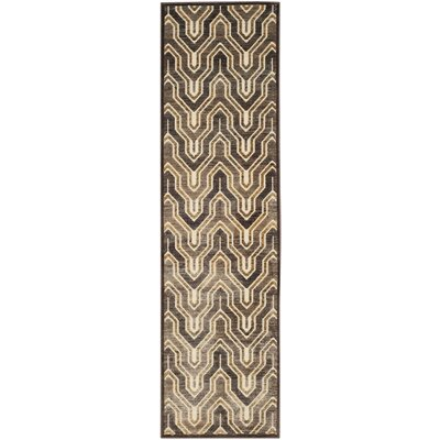 Addyson Beige/Brown Area Rug Rug Size: Runner 22 x 8