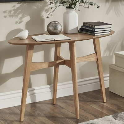 Payton Console Table Finish: Light Oak