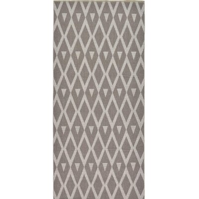 Adelphi Dark Gray Outdoor Area Rug Rug Size: Runner 5 x 82