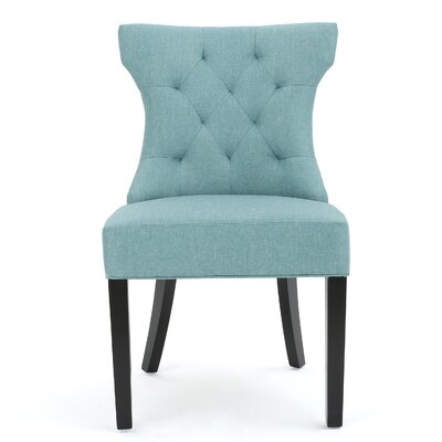 Eastcote Side Chair Upholstery: Teal