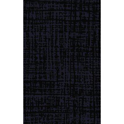 Timberlane Black/Navy Area Rug Rug Size: Rectangle 5 x 8