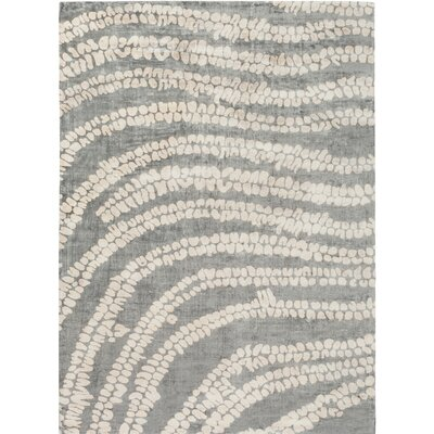Villa Court Hand-Loomed Gray/Pink Area Rug Rug Size: 8' x 11'