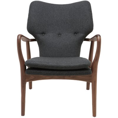 Epping Arm Chair Color: Dark Grey, Fabric: Tweed