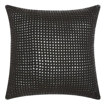 Nevius Leather Throw Pillow Color: Black/Beige