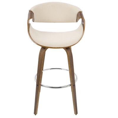 Belsize 30 Swivel Bar Stool with Cushion Upholstery: Cream