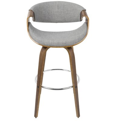 Belsize 30 Swivel Bar Stool with Cushion Upholstery: Gray