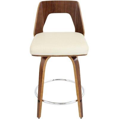 Bethnal 24 Swivel Bar Stool with Cushion Upholstery: Cream