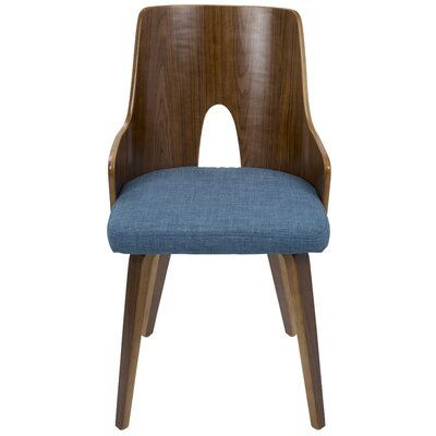 Tompson Side Chair Upholstery: Blue