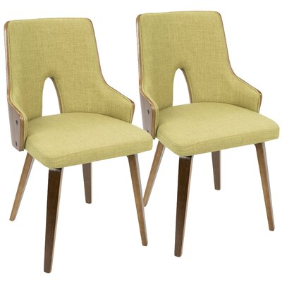 Buckhurst Upholstered Dining Chair Color: Green