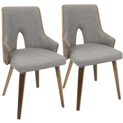 Tompson Upholstered Dining Chair Color: Light Gray