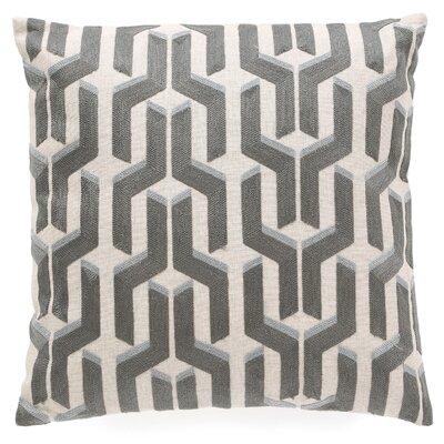Chalfont Cotton Throw Pillow Color: Silver / Blue