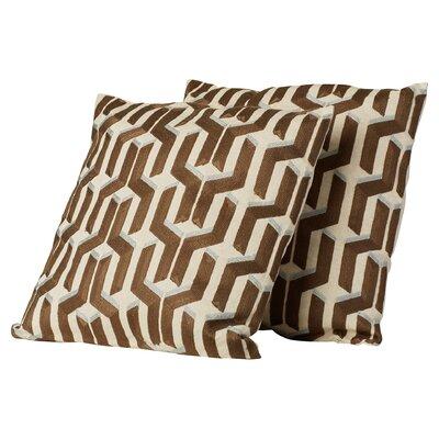 Chalfont Cotton Throw Pillow Color: Khaki