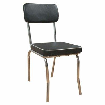 Jillian Side Chair Side Chair Upholstery: Black