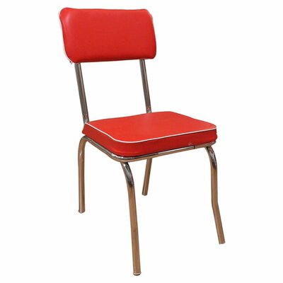 Jillian Side Chair Side Chair Upholstery: Red