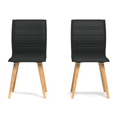 Melina Side Chair Upholstery: Black