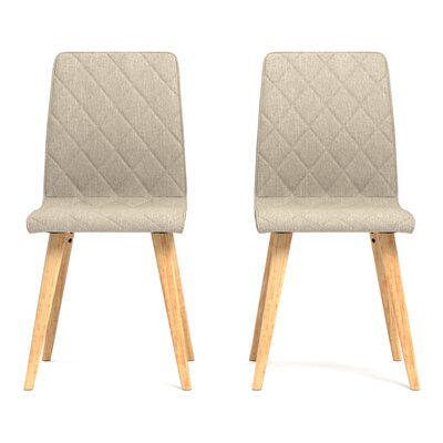 Melina Diamond Side Chair Upholstery: Barley Tan