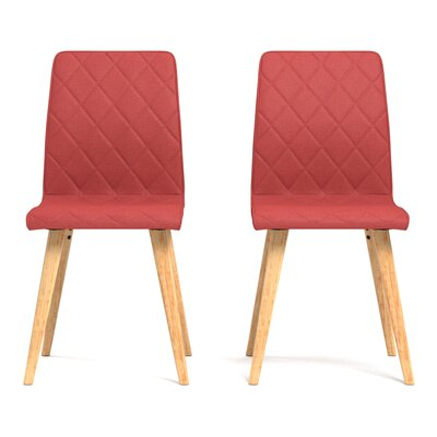 Melina Diamond Side Chair Upholstery: Sunrise Red