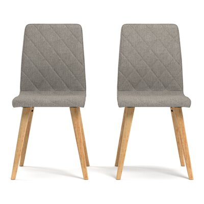 Melina Diamond Side Chair Upholstery: Dove Gray
