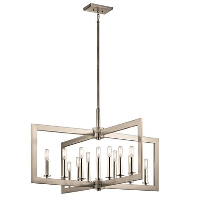 13-Light Candle-Style Chandelier Finish: Classic Pewter