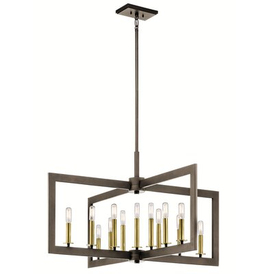13-Light Candle-Style Chandelier Finish: Olde Bronze