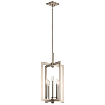 5-Light Foyer Pendant Finish: Classic Pewter, Size: 26.25 H x 14 W