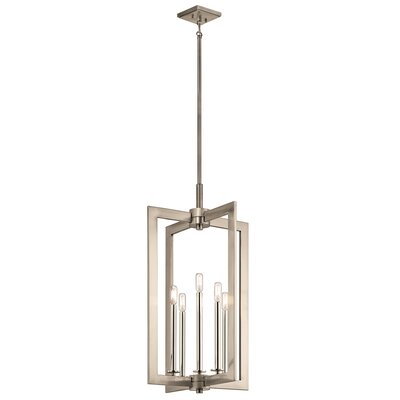5-Light Foyer Pendant Finish: Classic Pewter, Size: 31.5 H x 18 W