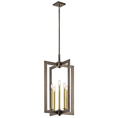 Putney 5-Light Foyer Pendant Finish: Olde Bronze, Size: 31.5 H x 18 W