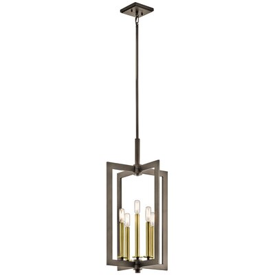 5-Light Foyer Pendant Finish: Olde Bronze, Size: 26.25 H x 14 W