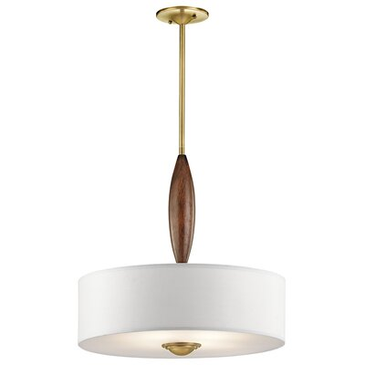 Euston 4-Light Drum Pendant Finish: Natural Brass