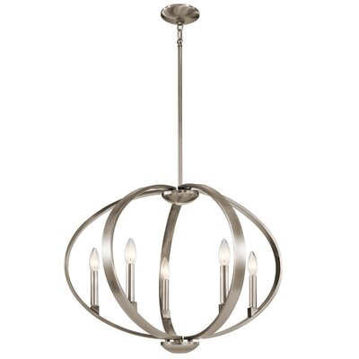 Zachary 5-Light Candle-Style Chandelier Finish: Classic Pewter