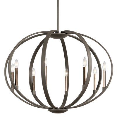 Zachary 8-Light Candle-Style Chandelier Finish: Old Bronze