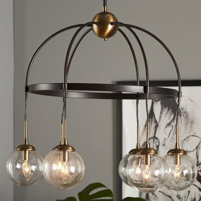 Yorba 6-Light Shaded Chandelier