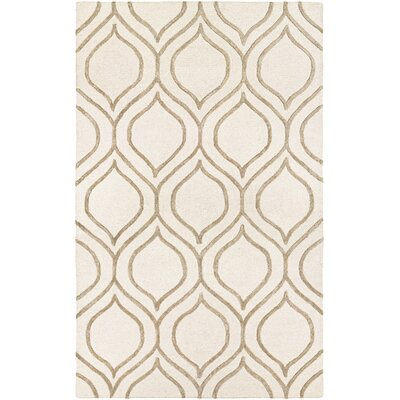 Devorah Hand-Woven Ivory/Gray Area Rug Rug Size: Rectangle 36 x 66