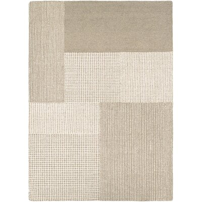 Ming Hand-Woven Gray/Light Brown Area Rug Rug Size: 96 x 13