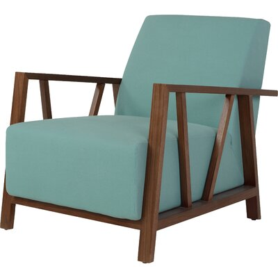 Abrams Armchair Upholstery Color: Blue Topaz