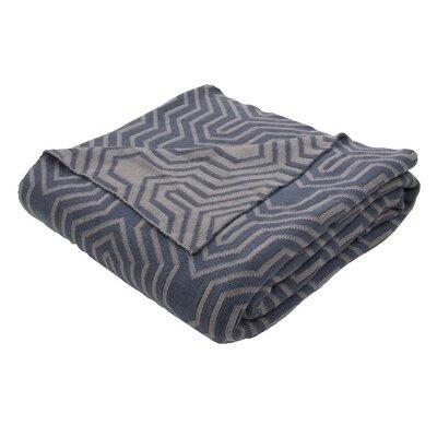 Drumanaway Handloom Modern Cotton Throw Blanket Color: Gray / Gray