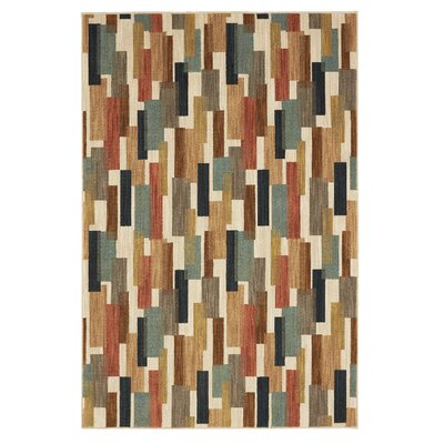 Evansville Festoon Red/Blue Area Rug Rug Size: Rectangle 710 x 53