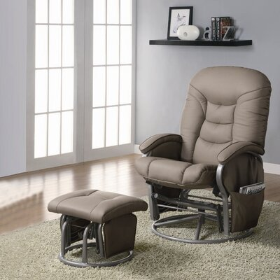 Paz Recliner & Ottoman Set Color: Beige