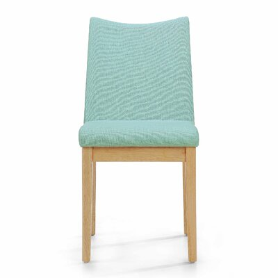 Calhame Side Chairs Upholstery: Mint, Finish: Oak