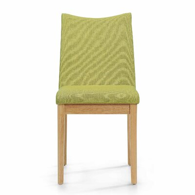 Traditions Side Chairs Upholstery: Green Tea, Finish: Oak