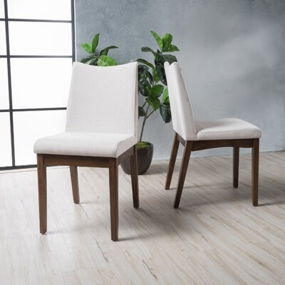 Traditions Side Chairs Upholstery: Light Beige, Finish: Walnut