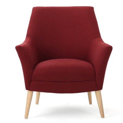 Balloo Arm Chair Upholstery: Deep Red