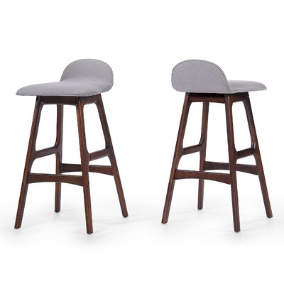 Holden 28.5 Bar Stool Upholstery: Dark Beige