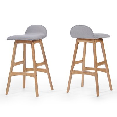 Holden 28.5 inch Bar Stool Upholstery: Beige